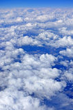 Clouds and sky as seen through window Royalty Free Stock Image