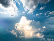 Clouds in sky atmosphere panorama Stock Photos