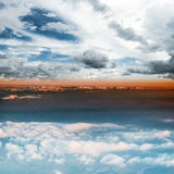 Clouds in sky atmosphere panorama Stock Photo