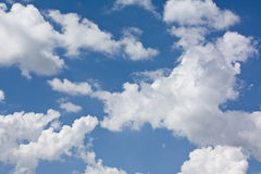 Clouds in the sky a background Stock Photos