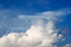 Clouds and sky background. Sky background with white and creamy clouds Stock Photography