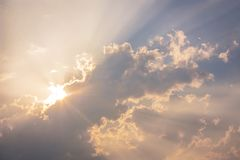 Clouds in the Sky #2. Background containing clouds in the middle of a spring sunset sky royalty free stock images