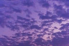 Clouds Sky Background violet color Stock Images