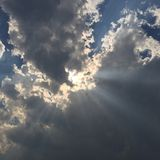 Clouds in the Sky. Big black cloud in the sky Royalty Free Stock Photography