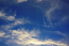 Clouds sky. Clouds in the blue sky Royalty Free Stock Photos