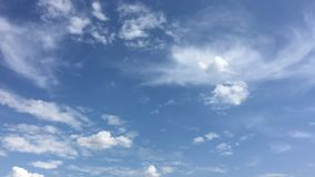 Clouds, sky blue background. cloud blue sky and sun stock video footage