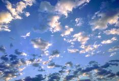 Clouds in the sky. Clouds sky blue background weather royalty free stock photos