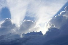 Clouds on the sky Stock Photography