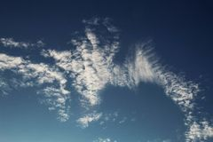 Clouds on sky. Royalty Free Stock Photography