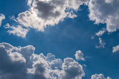 Clouds in the sky. Stock Images