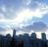 Clouds and sky in the city Royalty Free Stock Images