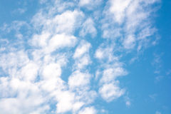 Clouds in the sky, clear day. Like cotton wool Stock Photography