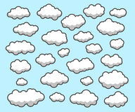 Clouds, Sky. Clouds collection in different variations Stock Illustration
