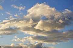 Clouds in the sky on Crete Stock Image