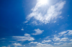 Clouds in the sky dawn cool refreshing atmosphere.  stock image