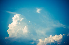 Clouds in the sky dawn cool refreshing atmosphere.  royalty free stock photo