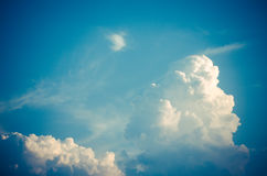 Clouds in the sky dawn cool refreshing atmosphere.  stock images