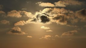 Clouds on Sky, Dramatic Sunset, Fluffy Cloudy Day, Nature Summer in Twilight.  royalty free stock images