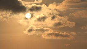 Clouds on Sky, Dramatic Sunset, Fluffy Cloudy Day, Nature Summer in Twilight.  stock images