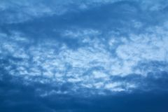 Clouds on sky in the evening Stock Photo
