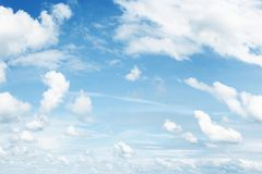 Clouds in sky. Fluffy white clouds in a blue sky Stock Photography