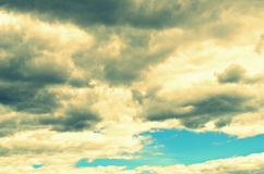The clouds in the sky Royalty Free Stock Image