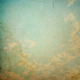 Clouds and sky, grunge background Stock Images