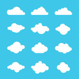 Clouds sky heaven icon symbol label logo sign Stock Images