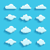 Clouds sky heaven icon symbol label logo sign Stock Image