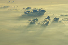 clouds on the sky from high view Royalty Free Stock Photos