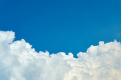 Clouds in the sky. Horizontal Stock Image