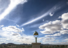 Clouds sky landscape city lighting fixture tucson tuscon Stock Image