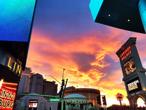 Clouds and Sky, Las Vegas, sunset lights effect. Sky and clouds, Las Vegas, Nevada royalty free stock photo