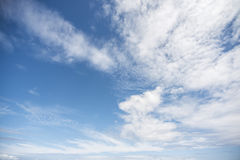 Clouds. And sky, no storm is coming Royalty Free Stock Photography