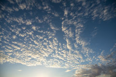 Clouds. And sky, no storm is coming Stock Photography