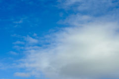 Clouds in the sky. Not dense clouds in the autumn sky Stock Photo