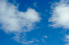 Clouds in the sky. Not dense clouds in the autumn sky Stock Photos