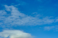Clouds in the sky. Not dense clouds in the autumn sky Royalty Free Stock Image