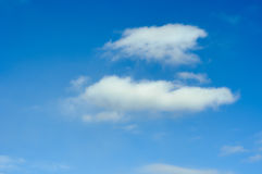 Clouds in the sky. Not dense clouds in the autumn sky Royalty Free Stock Photo