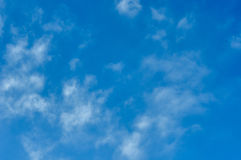 Clouds in the sky. Not dense clouds in the autumn sky Royalty Free Stock Images
