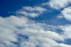 Clouds in the sky. Not dense clouds in the autumn sky Royalty Free Stock Photos