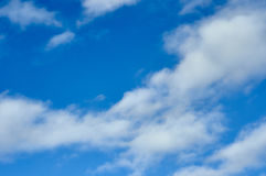 Clouds in the sky. Not dense clouds in the autumn sky Royalty Free Stock Photography