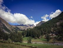 Clouds in the sky over Gressoney Monte Rosa Royalty Free Stock Photography