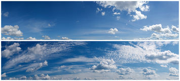 Clouds sky panorama Stock Photos