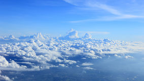 Clouds on sky from plane view royalty free stock image