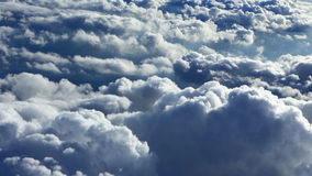 Clouds on sky from plane view Stock Image