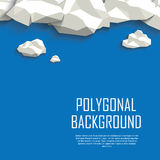 Clouds in the sky polygonal background. Low poly Stock Image
