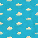Clouds in the sky. Seamless pattern Royalty Free Stock Photos