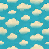 Clouds in the sky. Seamless pattern Royalty Free Stock Photo