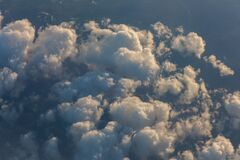 Clouds on the sky seen from above Stock Photo
